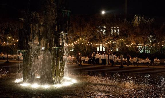 White Dinner fountain