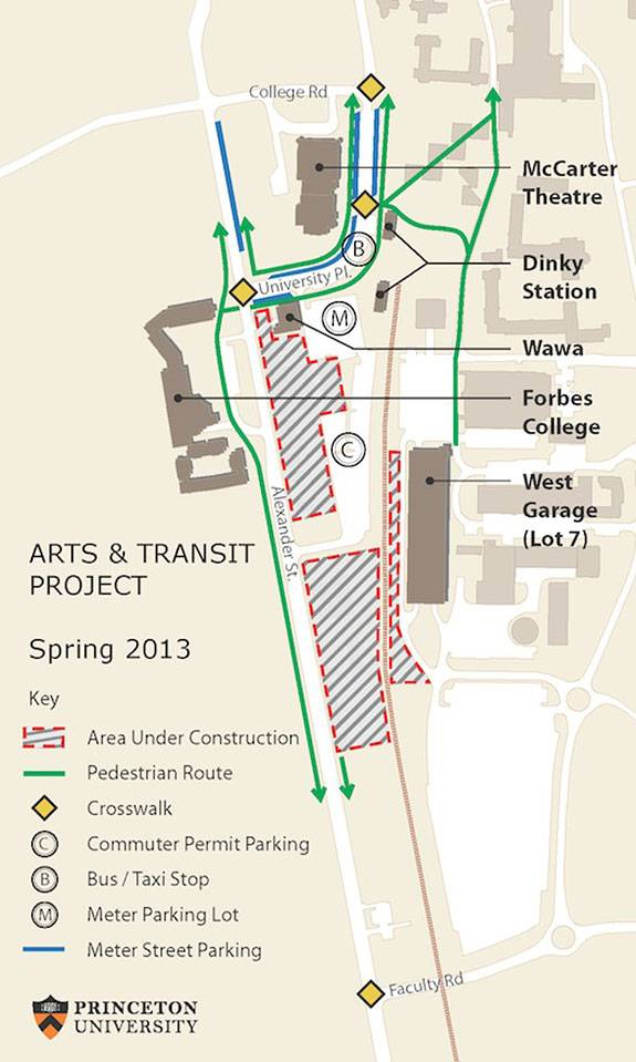 Arts and Transit map
