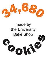 34,680 cookies made by the University Bake Shop