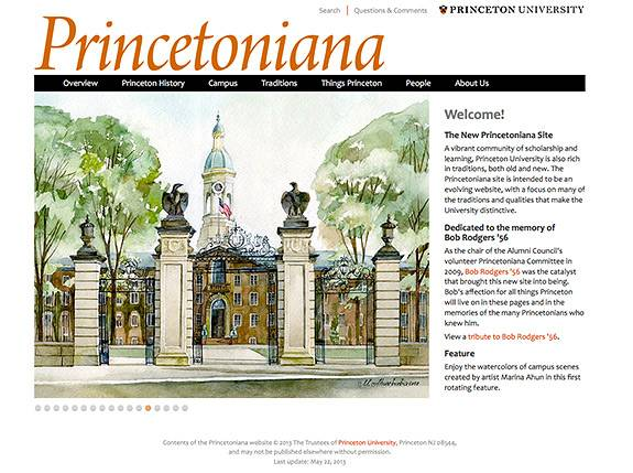 Princetoniana website