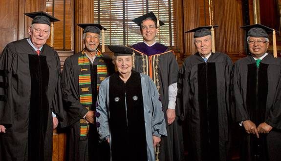 Commencement 2014 Honorary degrees