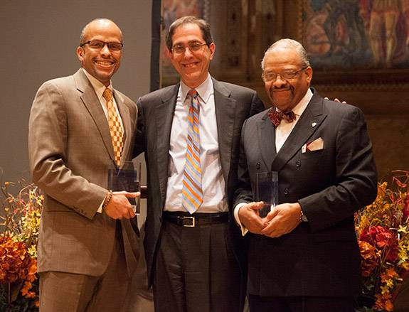 MLK Day Christopher Eisgruber, David Campbell, Kenneth Grayson