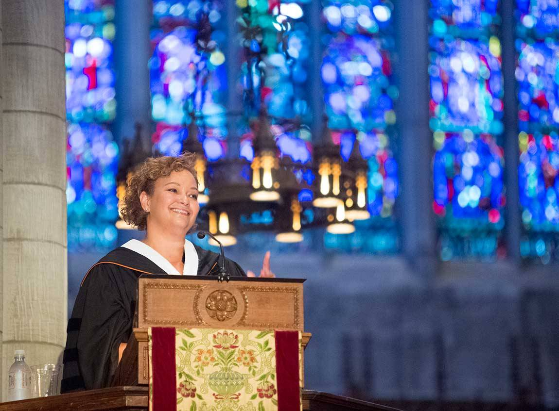Baccalaureate 2015 Lisa Jackson at podium