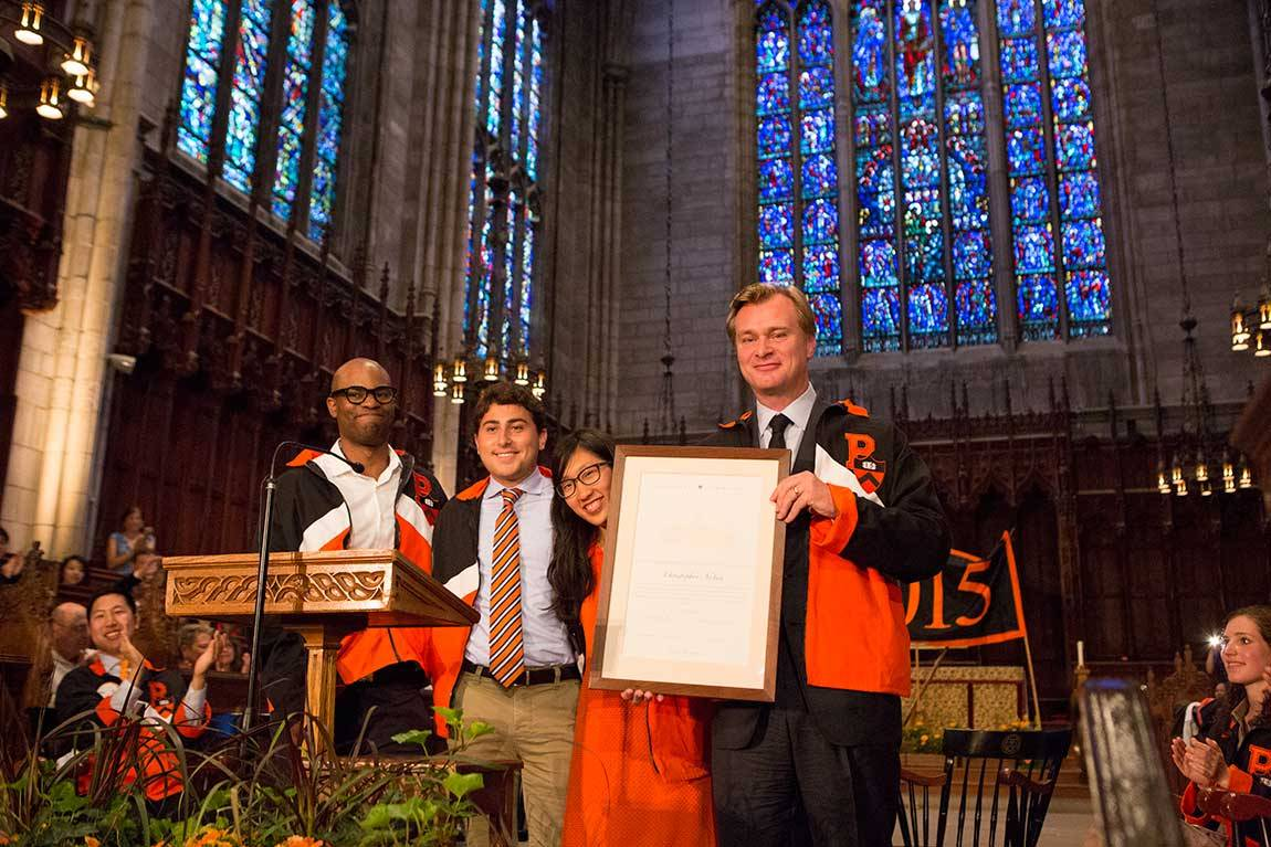 Class Day 2015 Christopher Nolan with class jacket