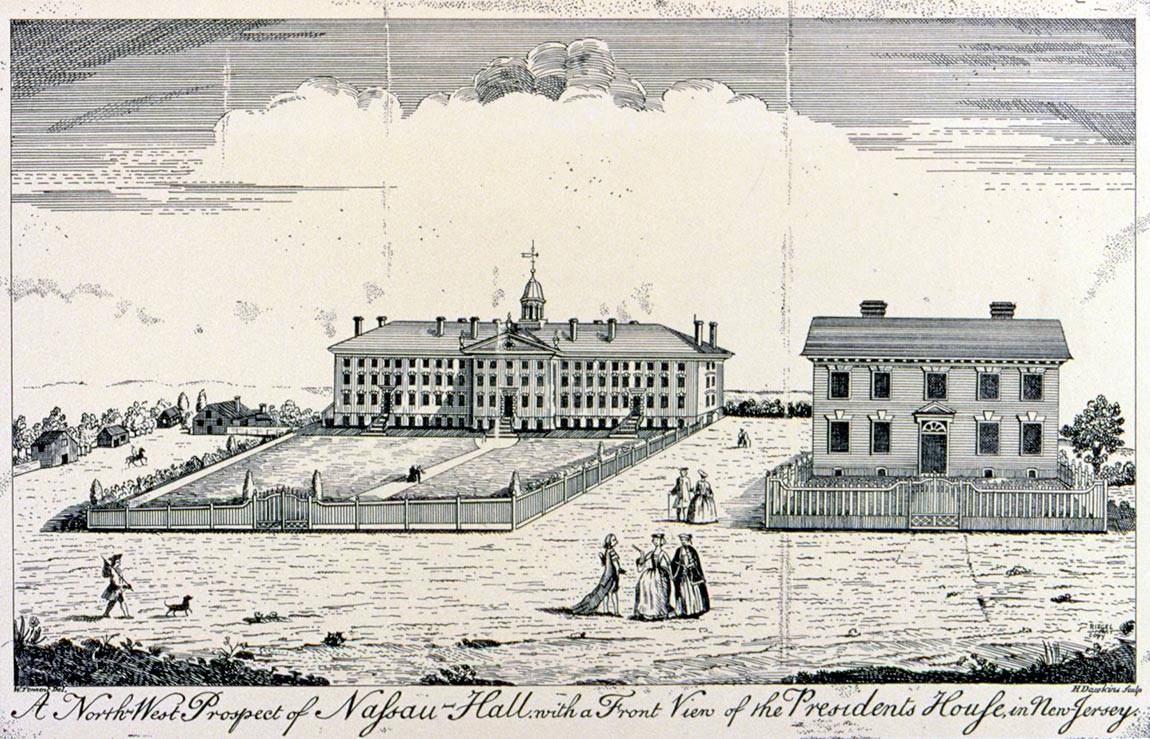 July 4 copper engraving of Nassau Hall