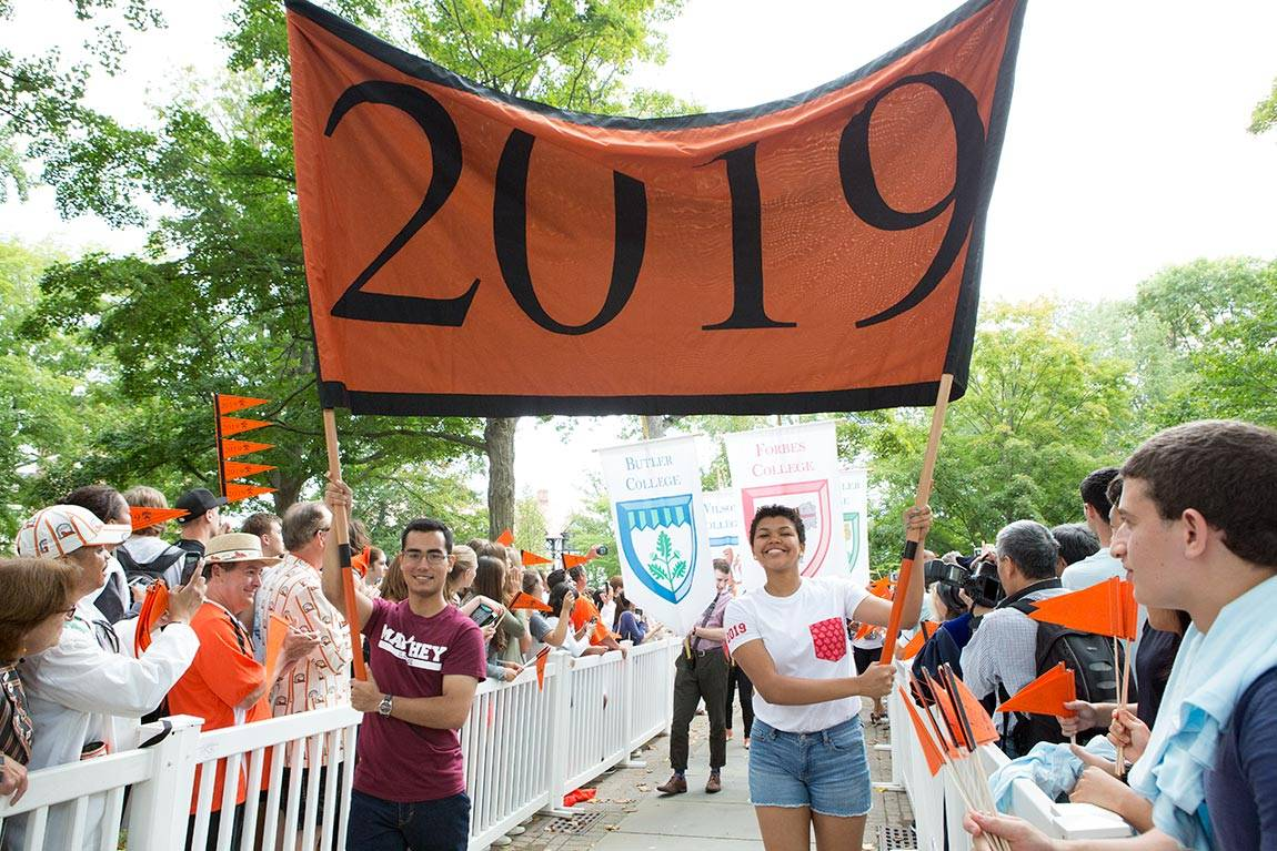 Opening Exercises Class of 2019 marches in Pre-rade