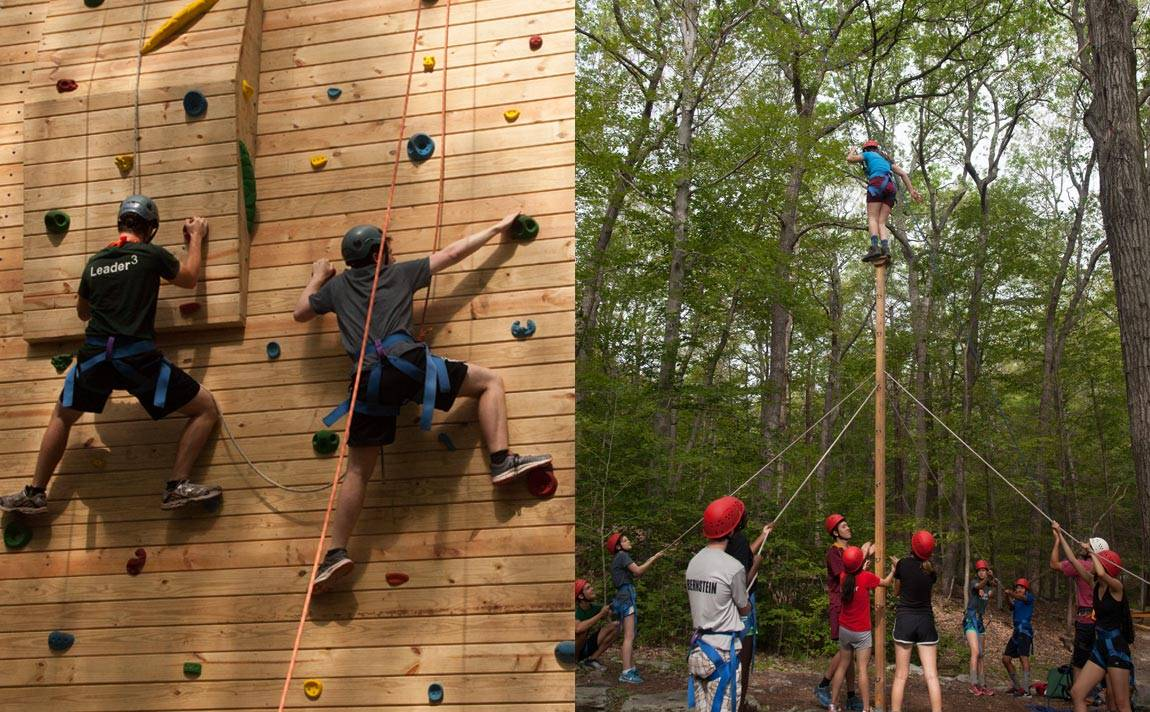 Back to school Outdoor Action students at Blairstown Center