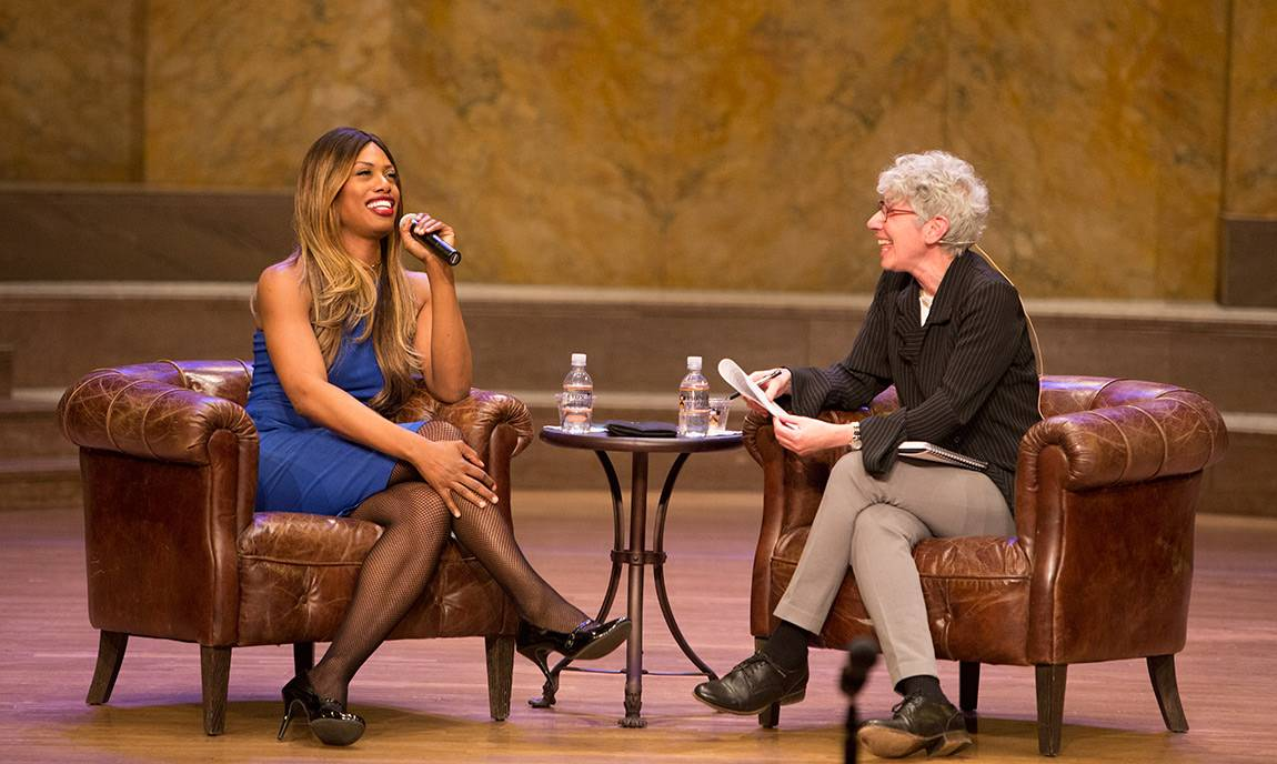 Laverne Cox speaks to Jill Dolan