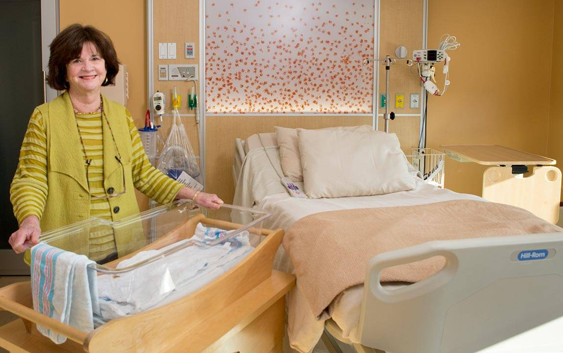Fragile Families Professor Sara McLanahan in hospital maternity room