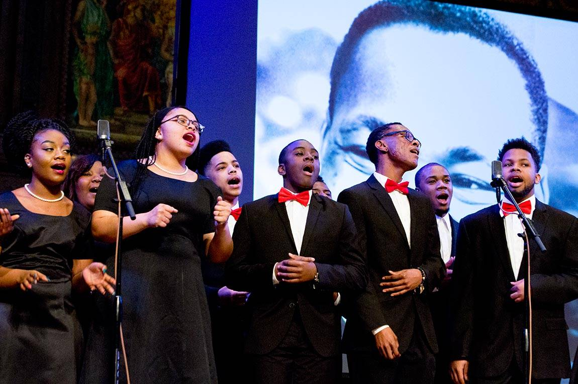 Singers at Martin Luther King Day celebration
