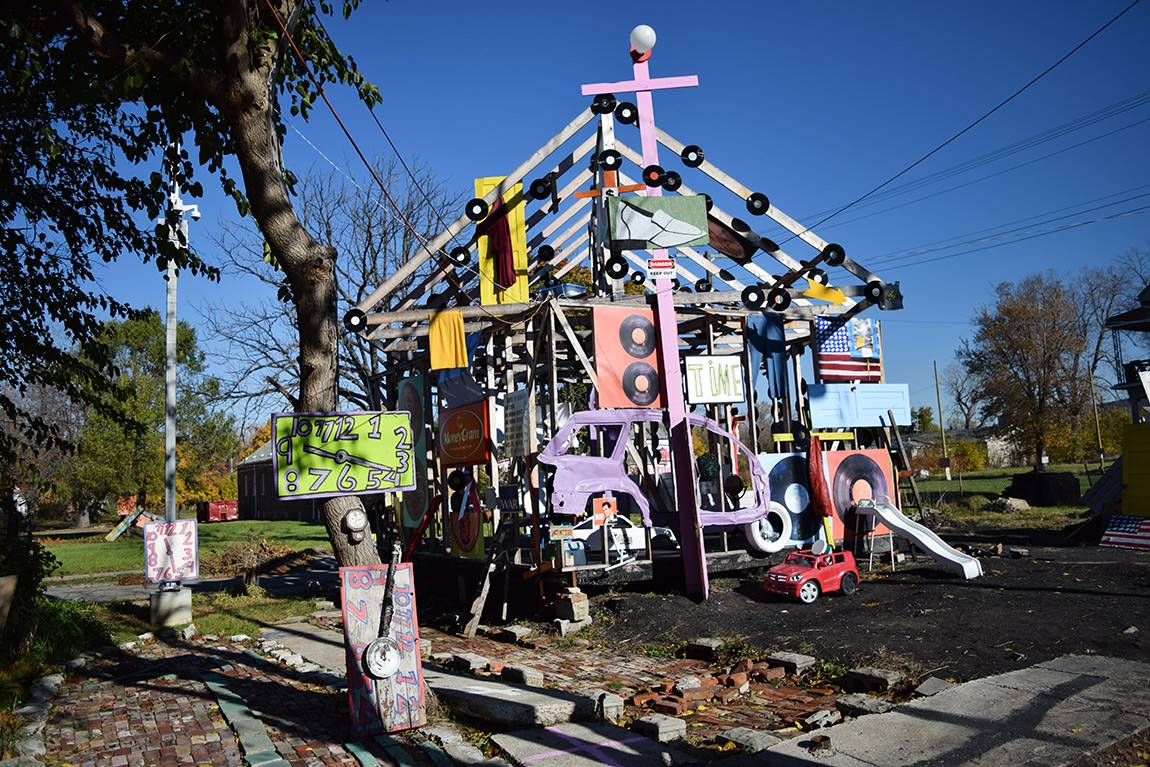 """House of Soul"" — one the original ""inside-out"" houses in the Heidelberg Project"