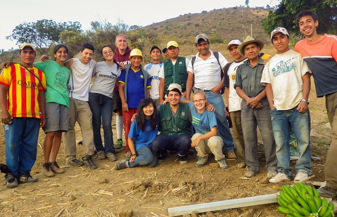 Engineers Without Borders studentsStudents and their technical mentor from EWB joined community members and masons to celebrate the completion of a second water system for La Pitajaya in the summer of 2014.