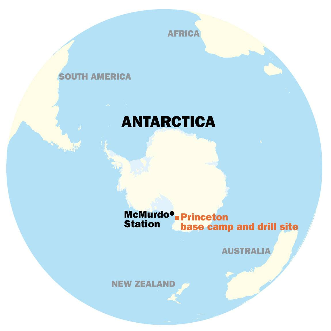 Oldest Ice map of Antarctica