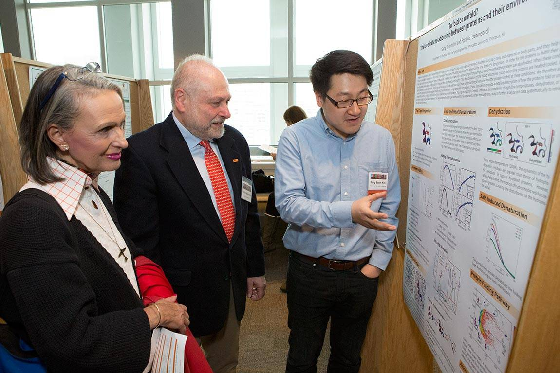 Princeton Research Day B.F. Graham, Pablo Debenedetti and Sang Beom Kim