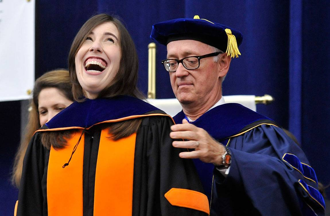 At Hooding, advanced-degree recipients celebrate hard, successful ...