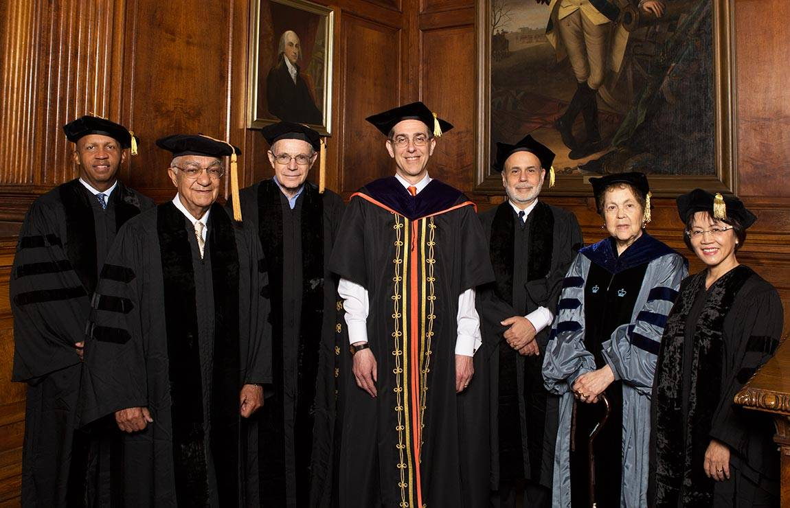 Commencement 2016 Honorary degrees with President Eisgruber