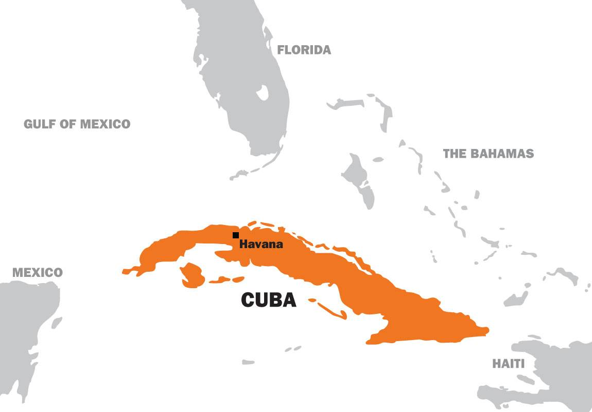 Senior Thesis Dennisse Calles map of Cuba
