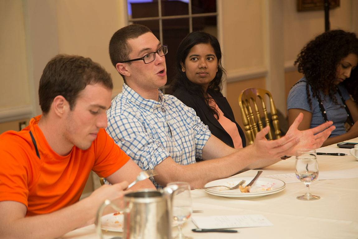 Princeton Start-Up Immersion Program Junior Raoul Rodriguez, left, senior Aaron Schwartz, middle, and junior Simran Mathews