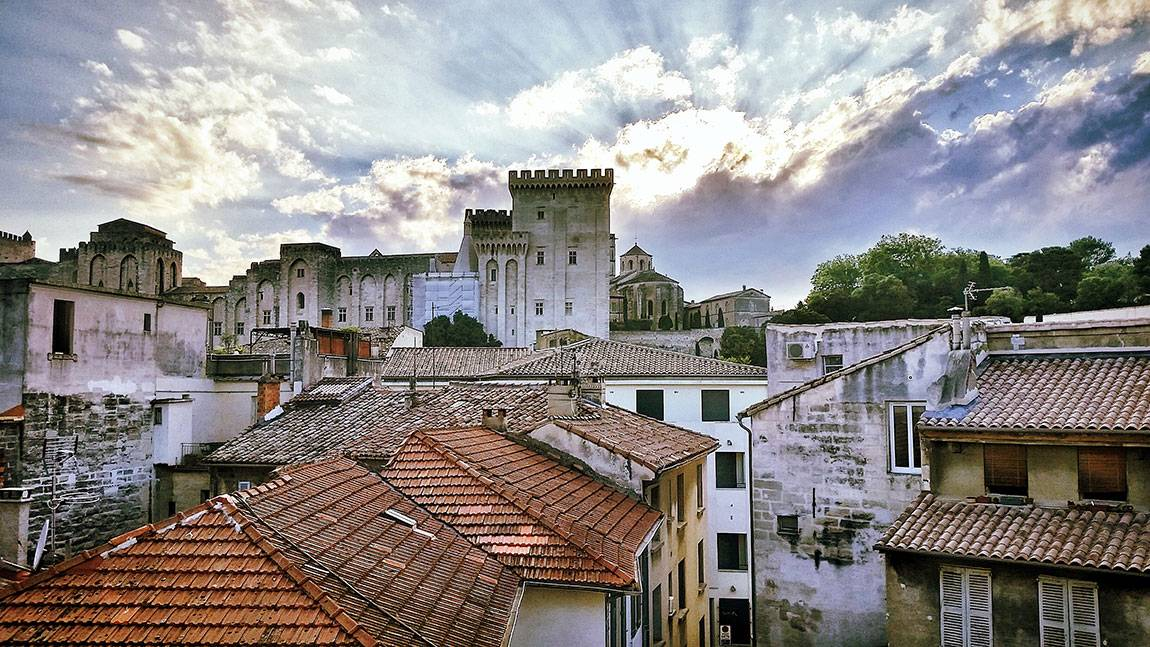 A Tale of Two Countries: France - rooftops at Avignon