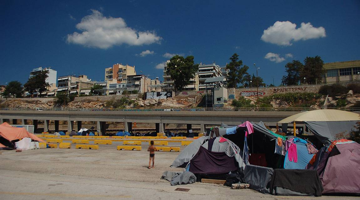 A Tale of Two Countries: Greece - makeshift refugee camp in Port of Piraeus