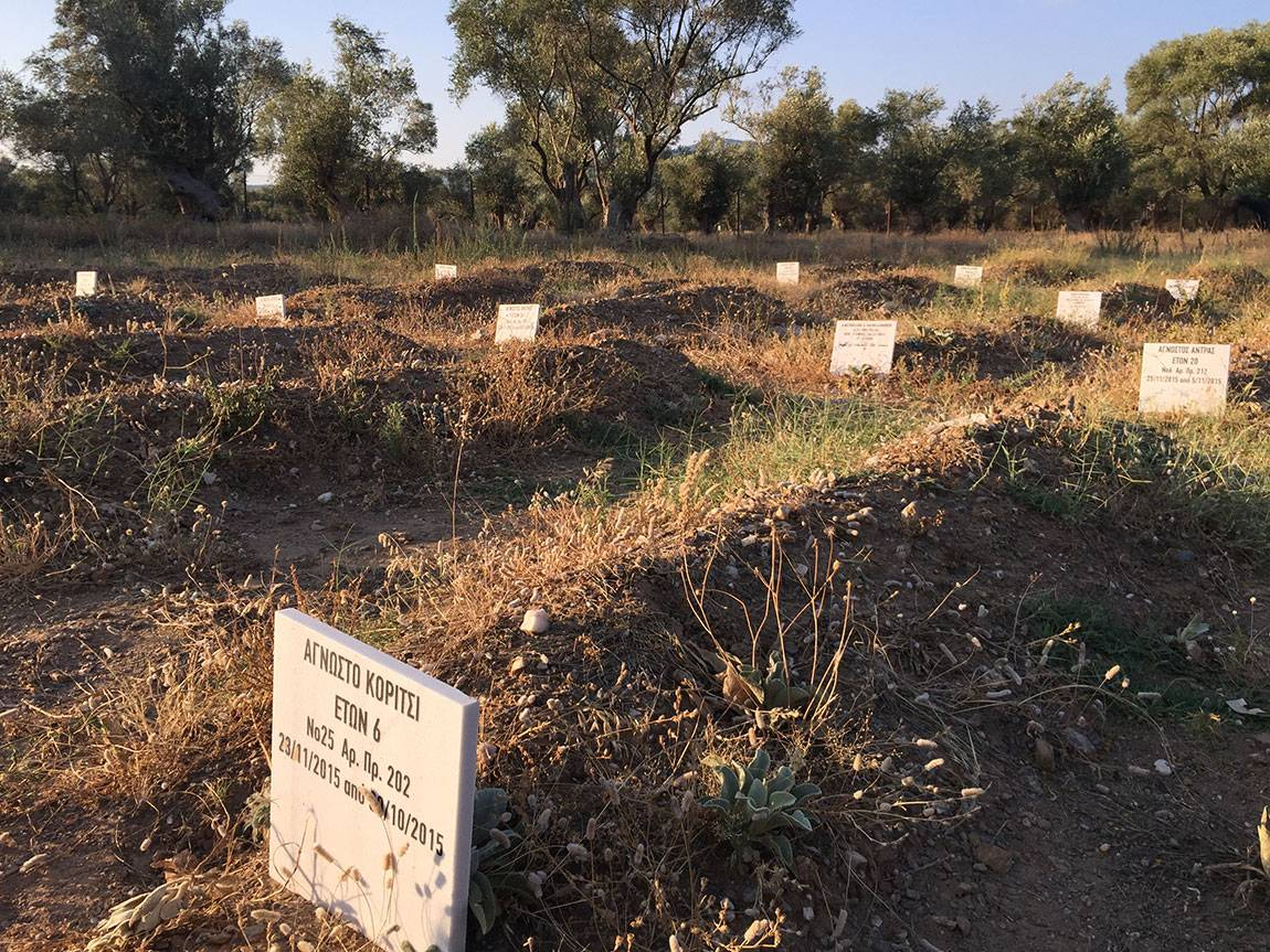 A Tale of Two Countries: Greece - makeshift cemetery