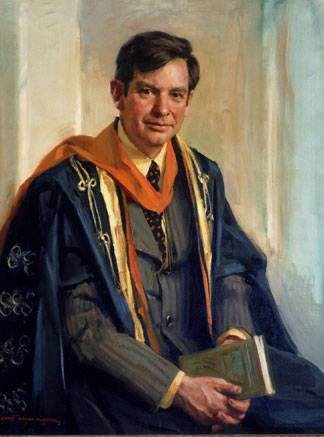 A University-commissioned portrait of Princeton President Emeritus William G. Bowen by Everett Raymond Kinstler hangs in the Nassau Hall Faculty Room.