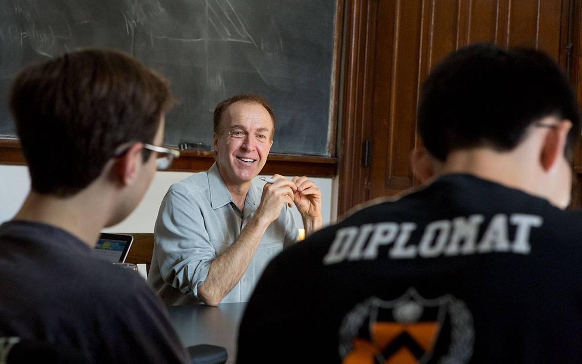 Rob Nixon, the Thomas A. and Currie C. Barron Family Professor in Humanities and the Environment and professor of English and the Princeton Environmental Institute in his class Writing the Environment Through Creative Nonfiction.