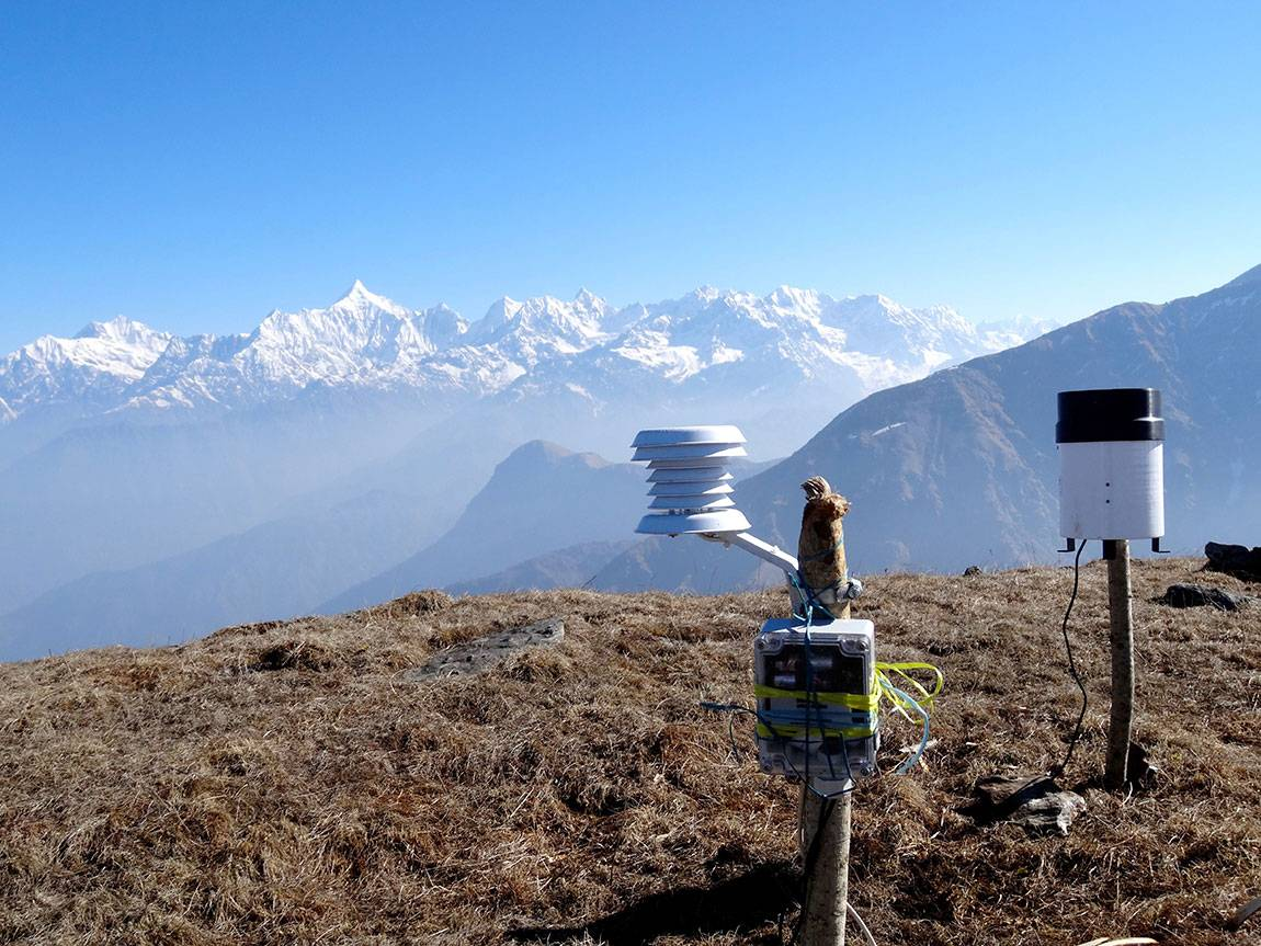 The study is among the first to specifically record temperature across different species' entire elevational ranges; previous studies had used elevation as an unreliable proxy for temperature, the researchers said. The researchers spent months at a time trekking across the Himalayas carrying camping and scientific equipment to set up data loggers such as those above, which recorded temperature and precipitation at the summit of Chuli Peak in Askot Wildlife Sanctuary, India