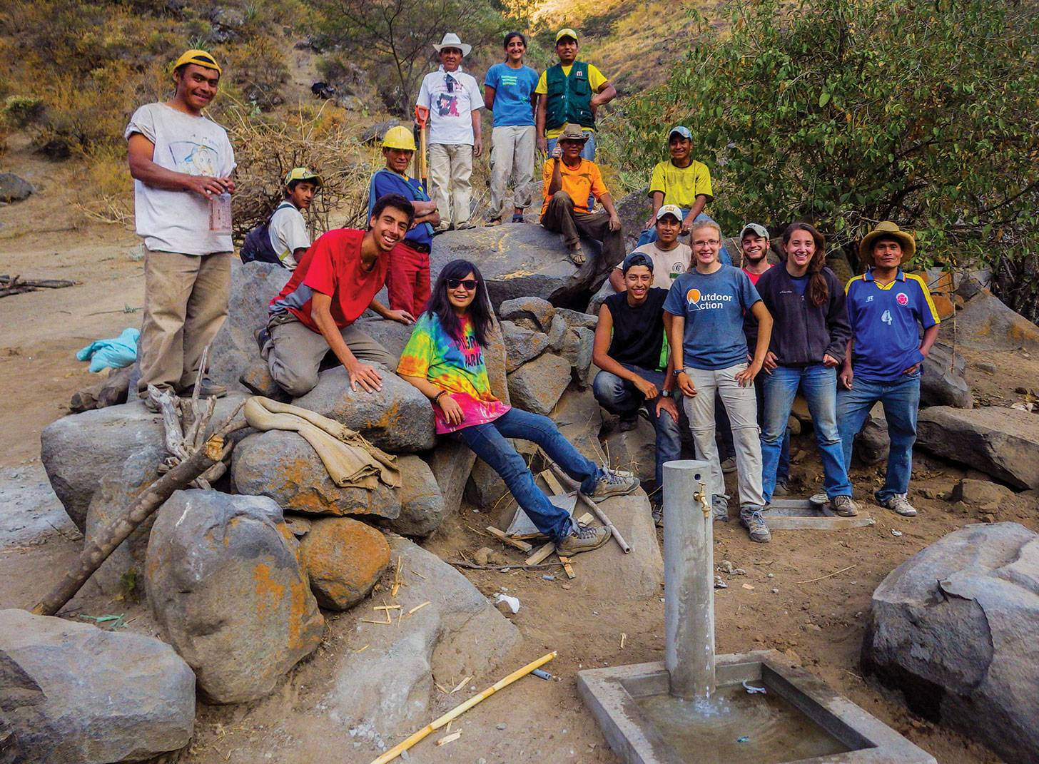 Engineers Without Borders-Princeton University chapter in Peru