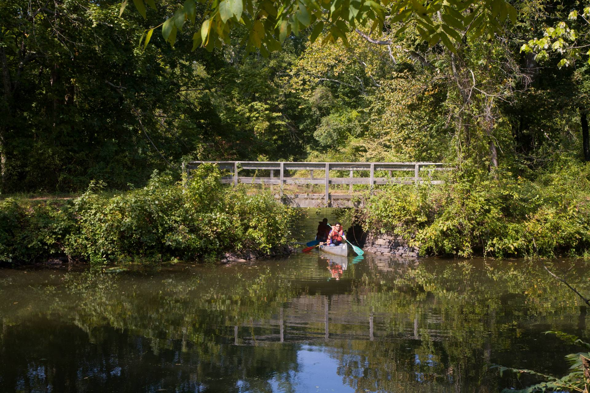 Canoeing on Delaware and Raritan Canal State Park