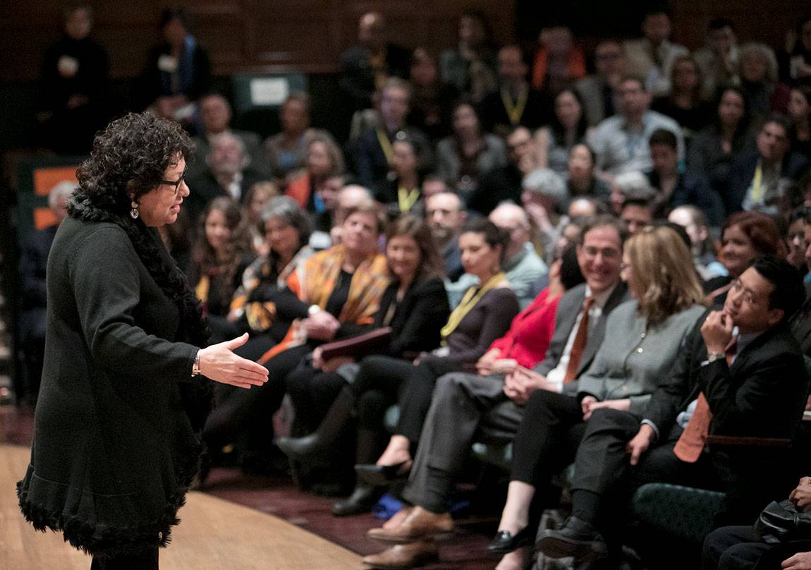Adelante Tigres Conference: Sonia Sotomayor addressing audience at Alexander Hall