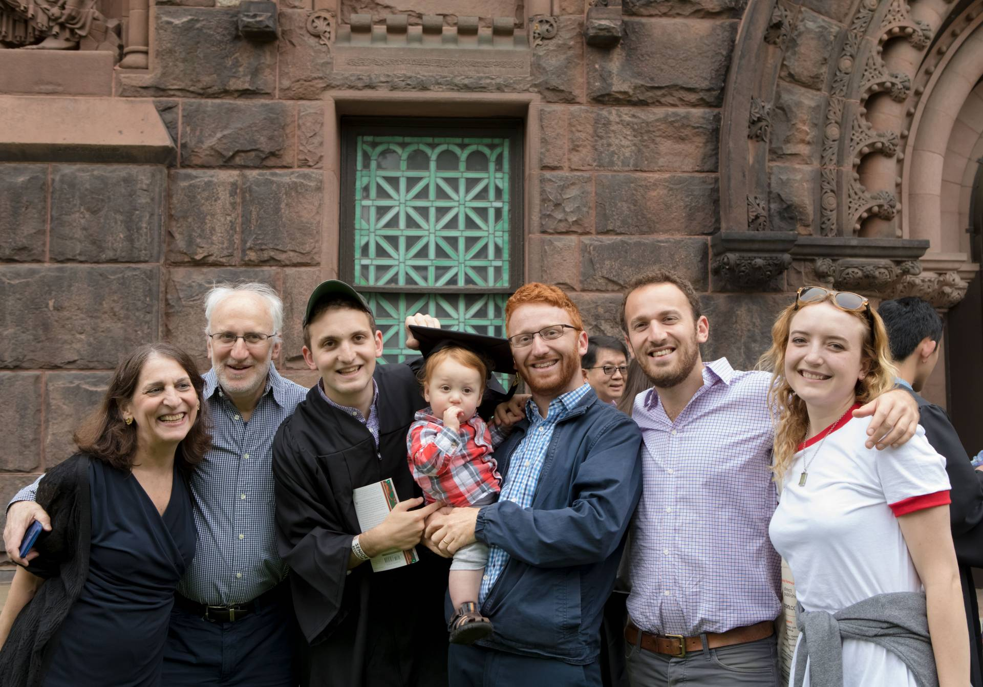 Gabriel Fisher standing with family after the Baccalaureate 2017 ceremony