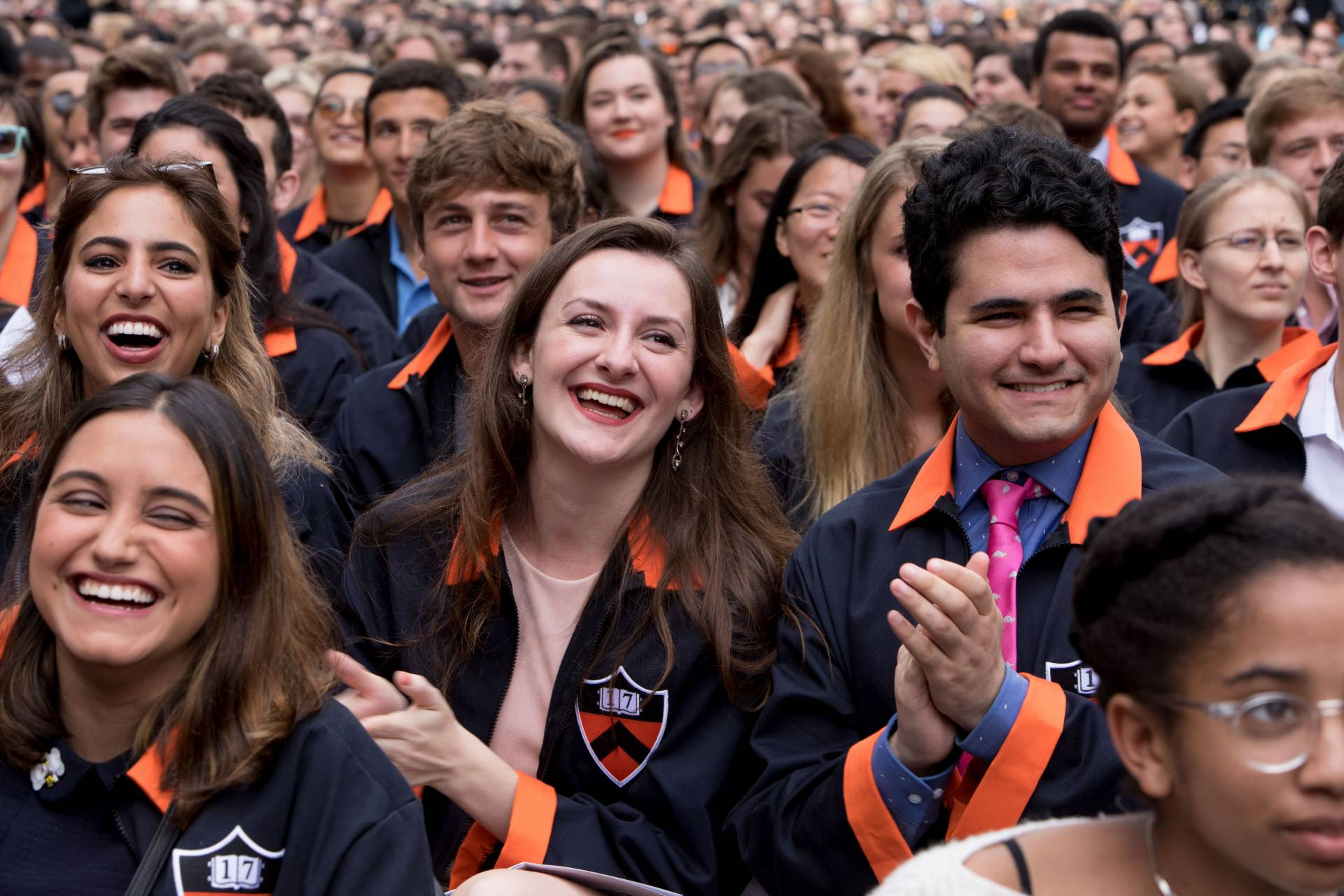 Students laughing during Class Day 2017 ceremony
