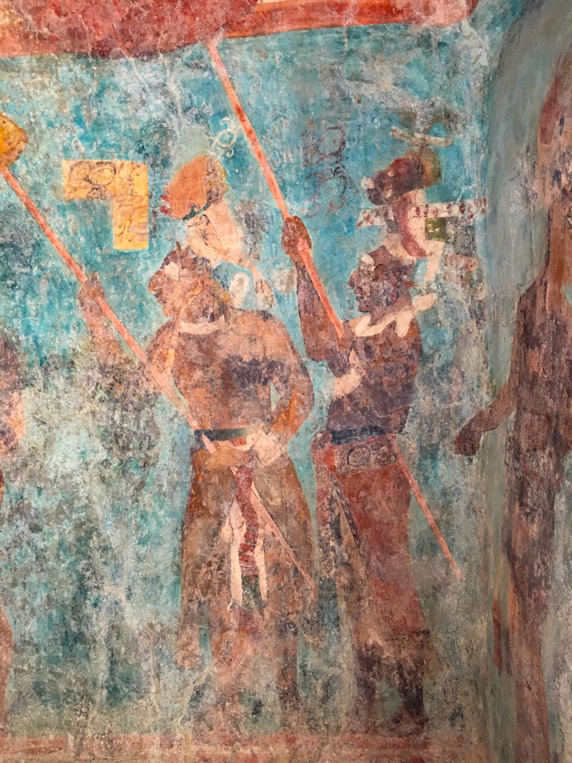 Detail of mural at Bonampak