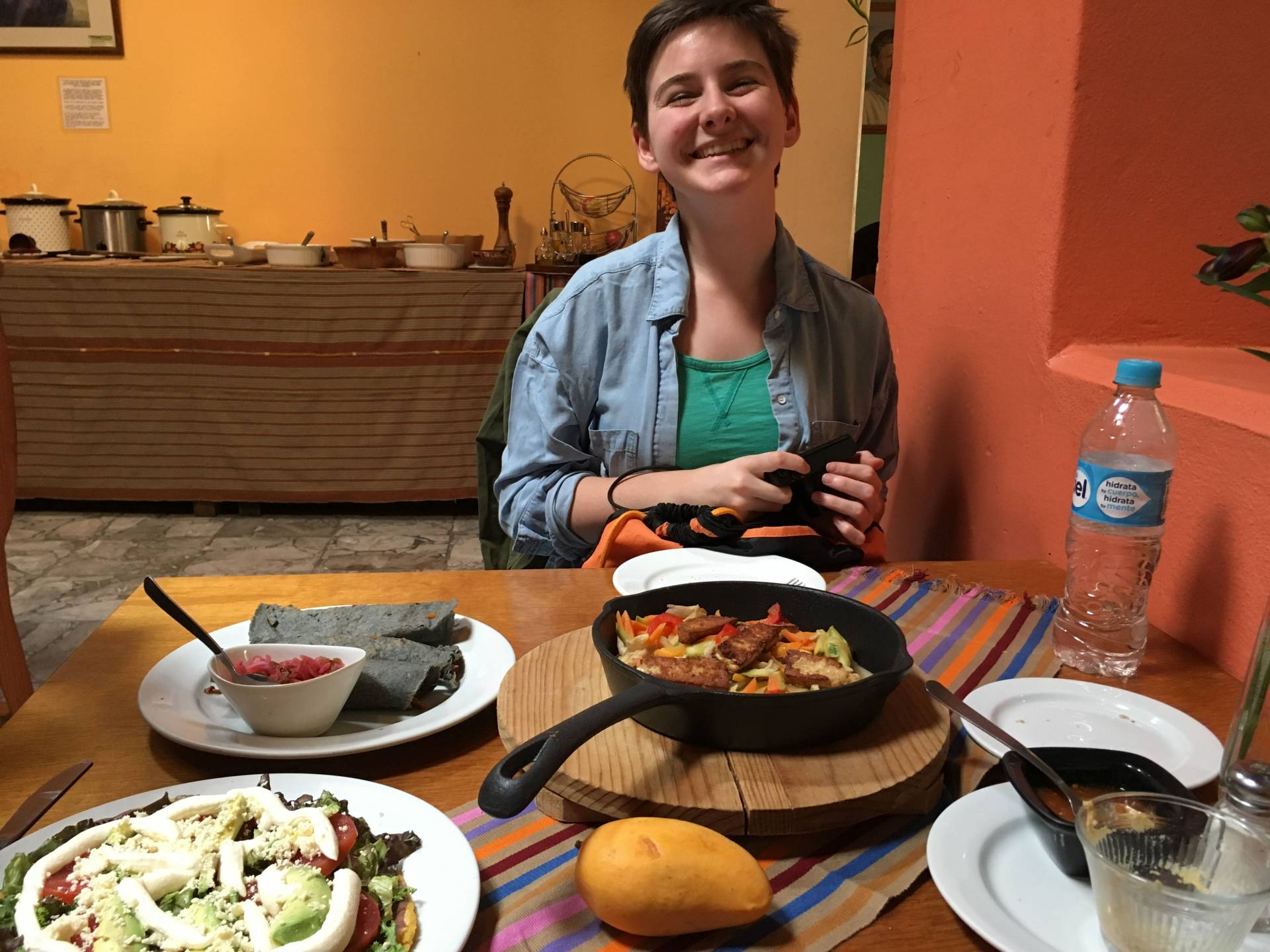 Kelly McCabe eating in San Cristobal de las Casas