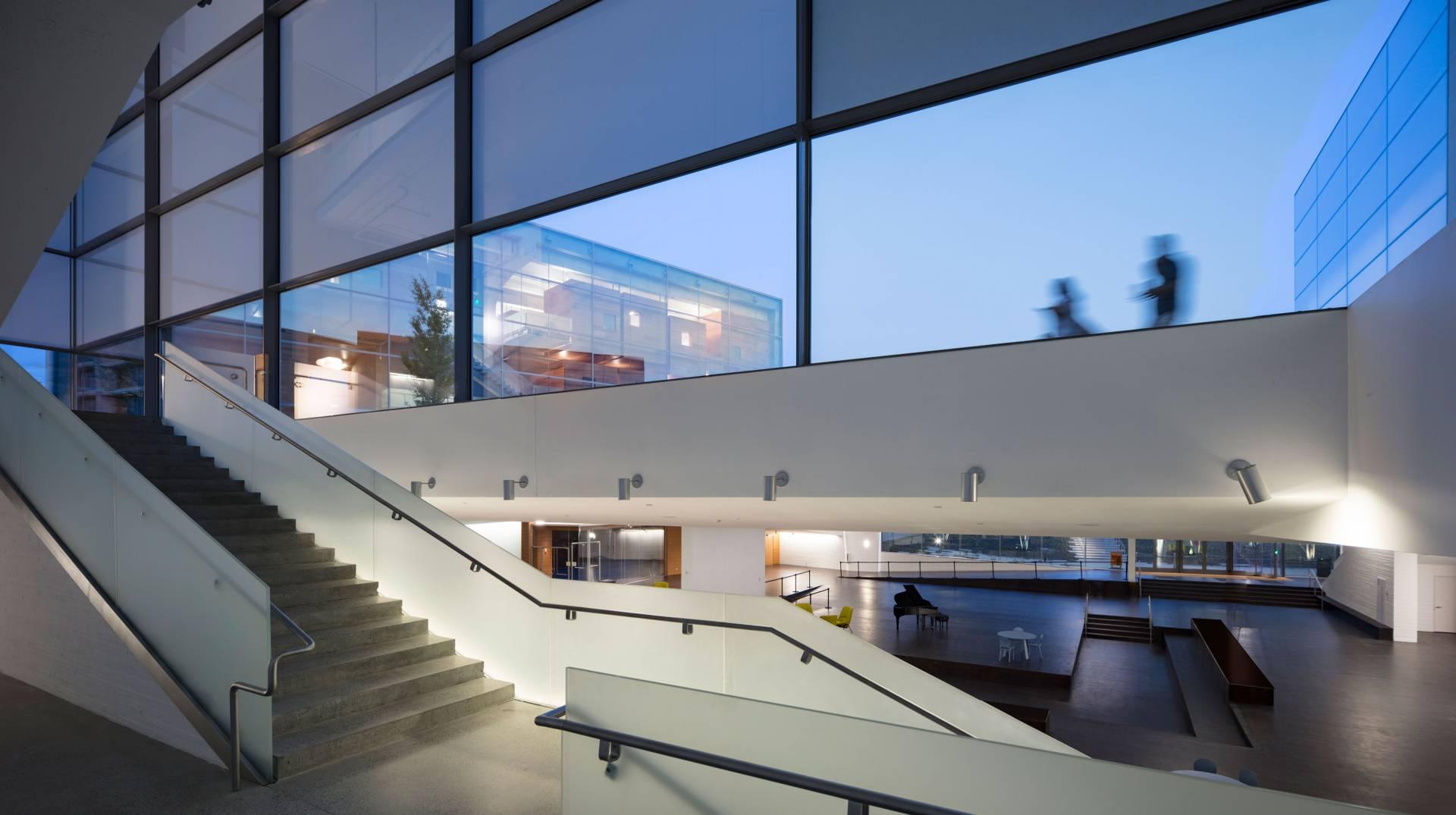 Interior Stairwell Of Lewis Arts Complex