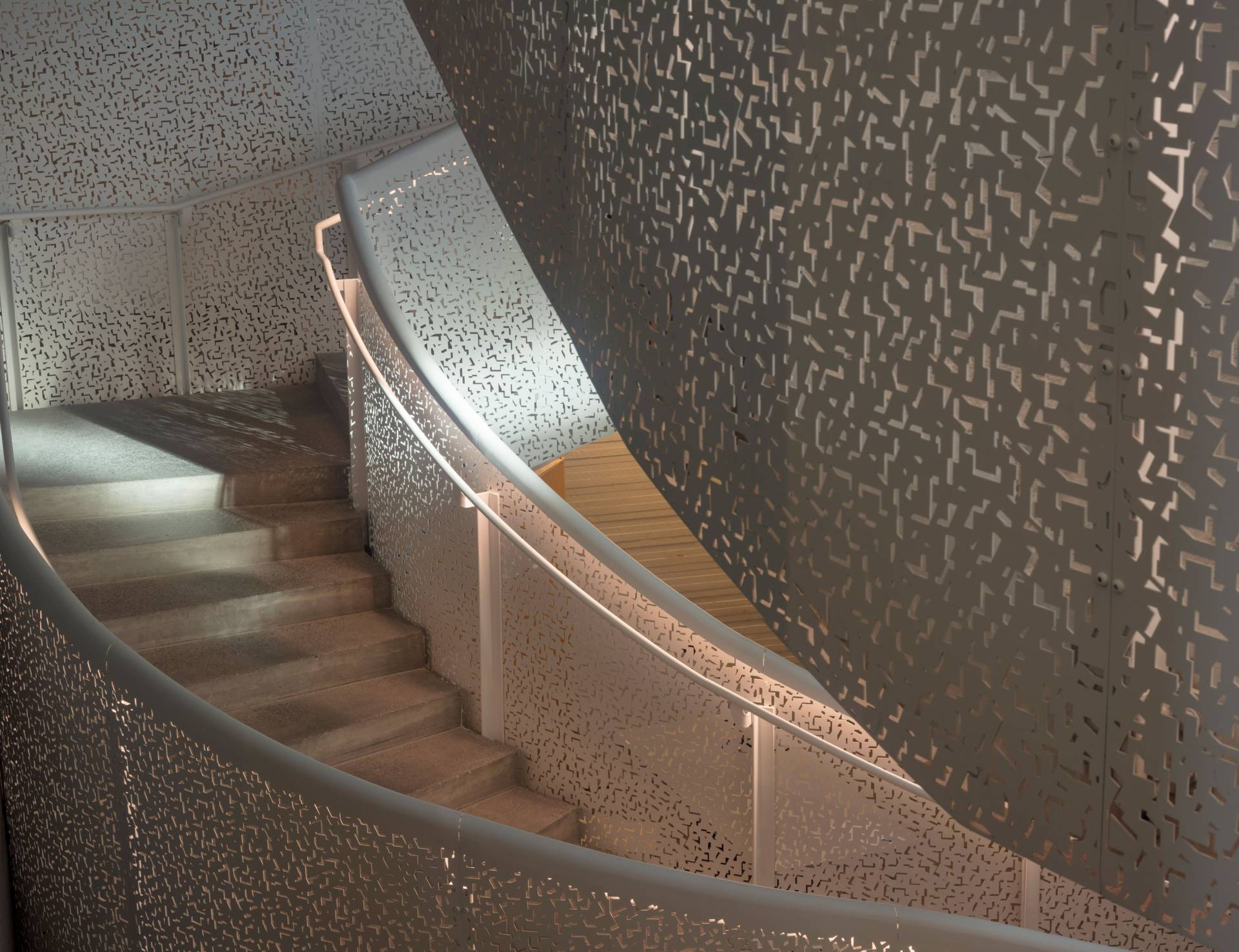 Stairwell in Lewis Arts complex