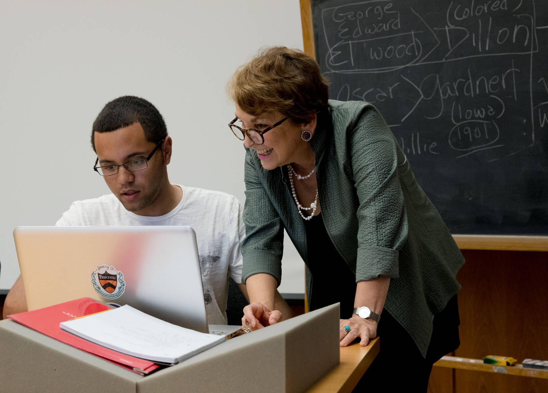Professor Martha Sandweiss with student, Maximo De La Cruz Jr.