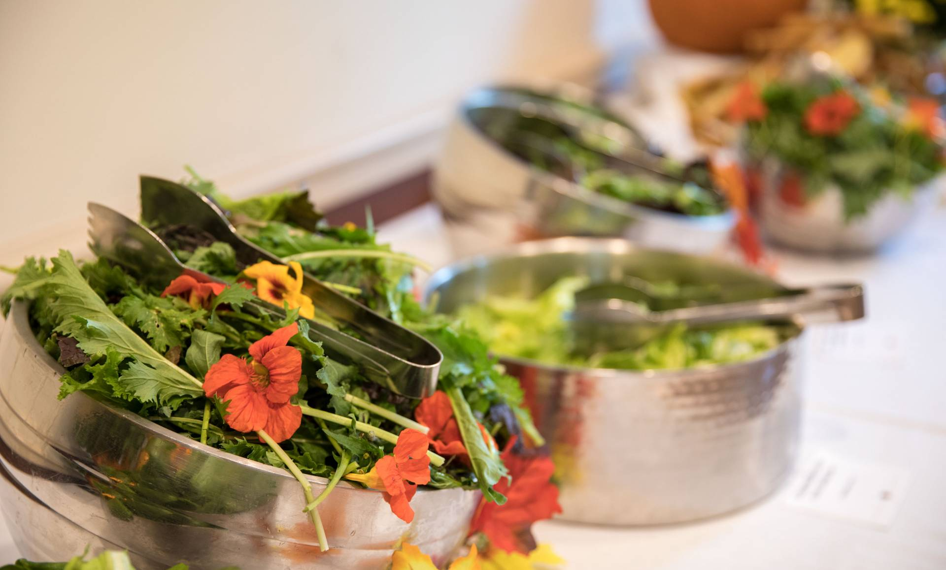 Edible flowers and greens from Vertical Farming and Forbes Garden
