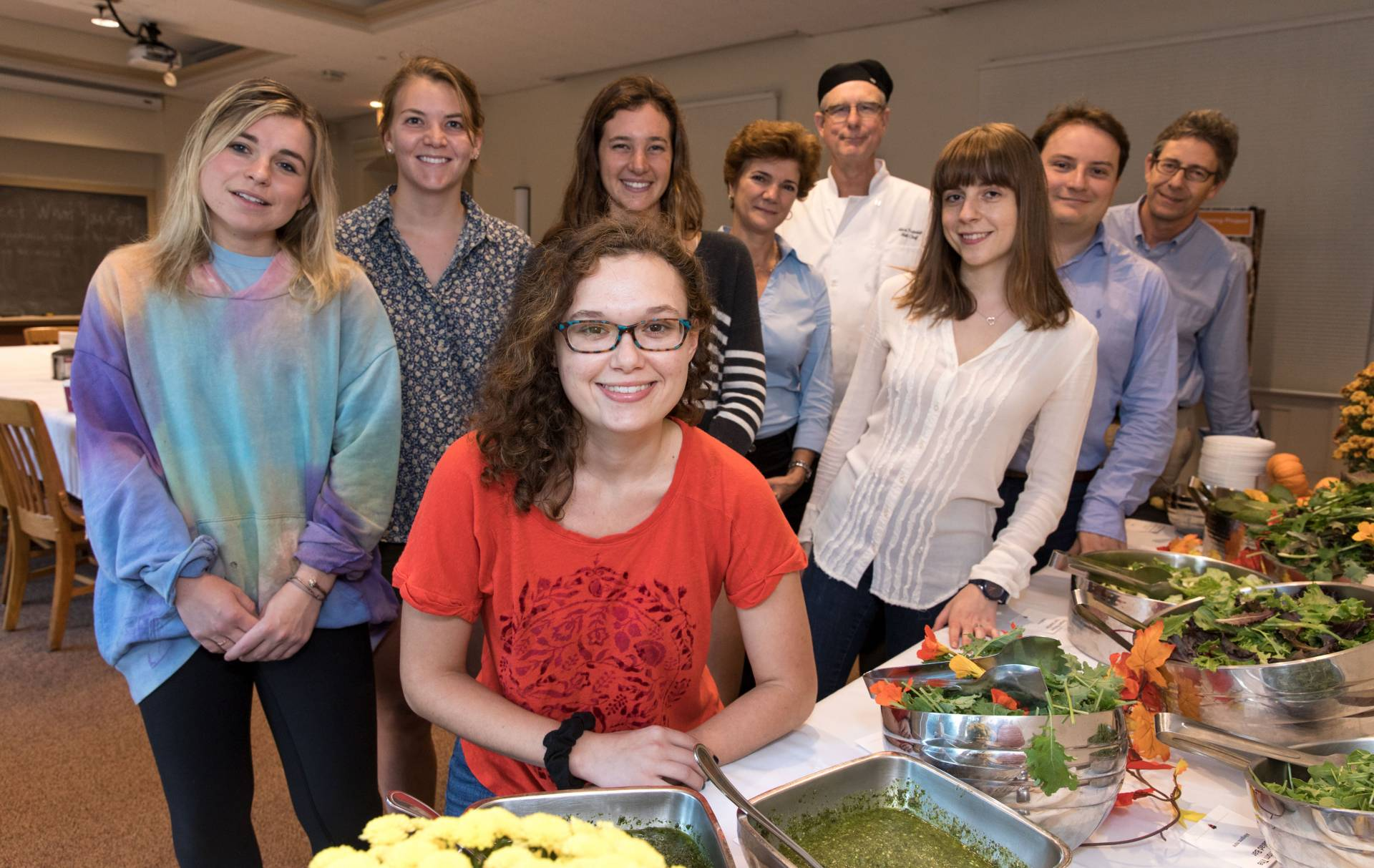 students, staff and faculty at Vertical Farming, Forbes Garden dinner