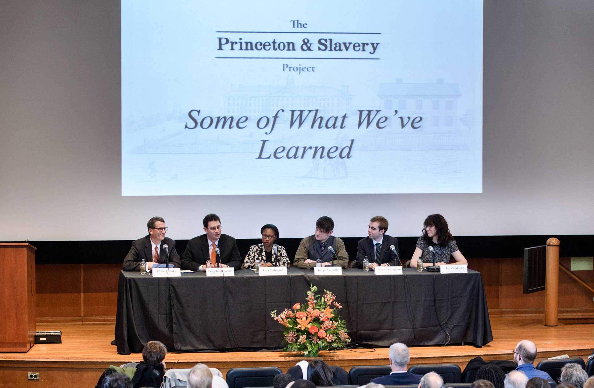 Princeton and Slavery Symposium academic panel