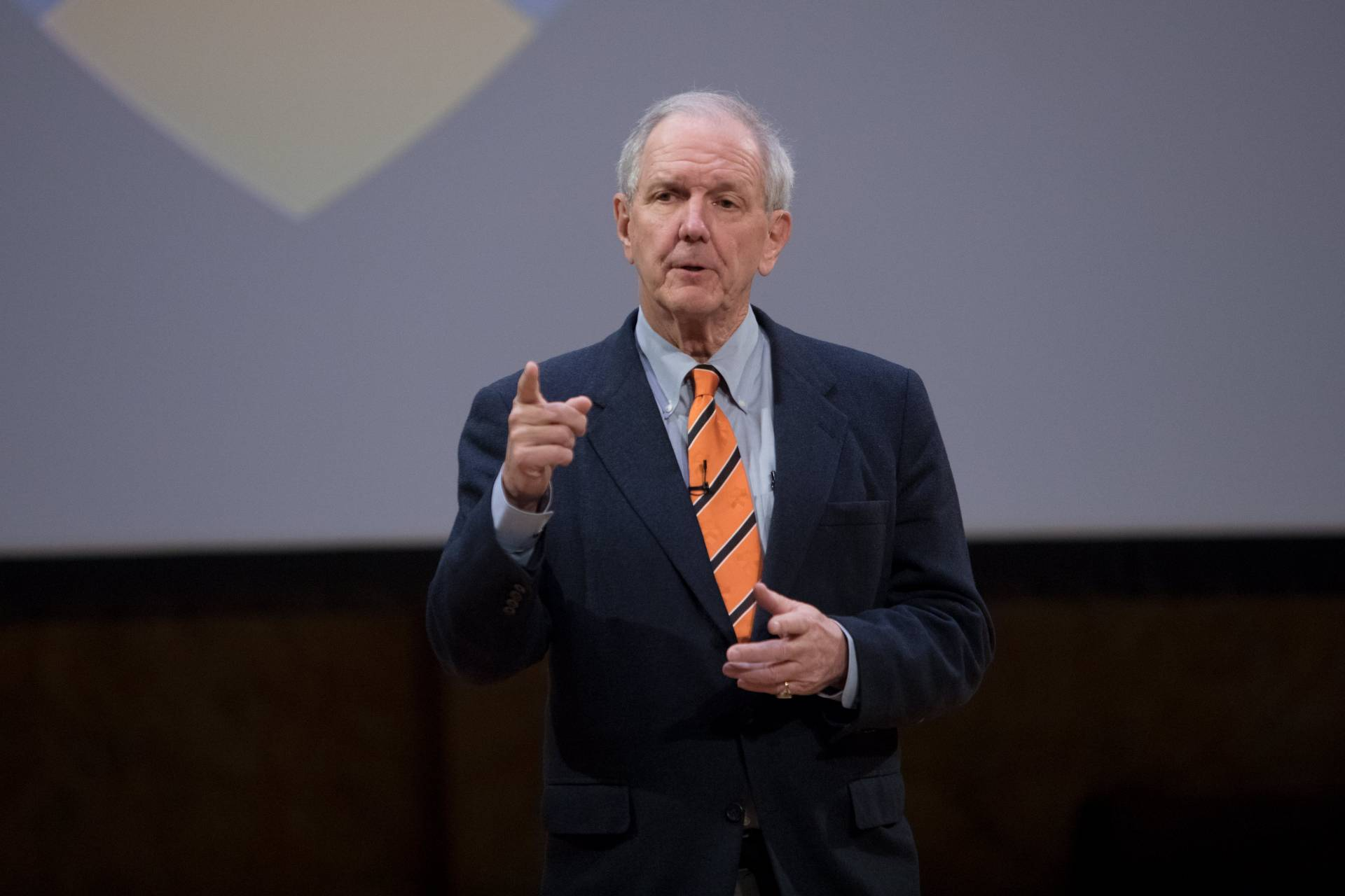 Charles Gibson speaks at Alumni Day 2018