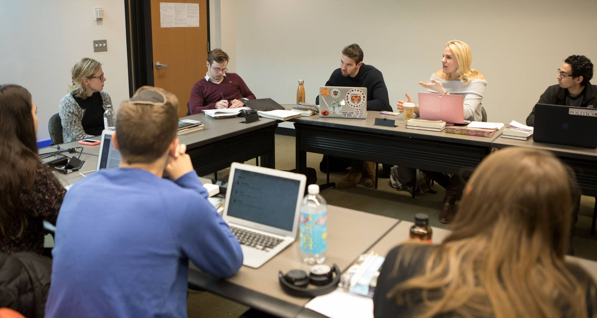 Professor Anna Stilz and students in The Ethics of Borders and Migration class