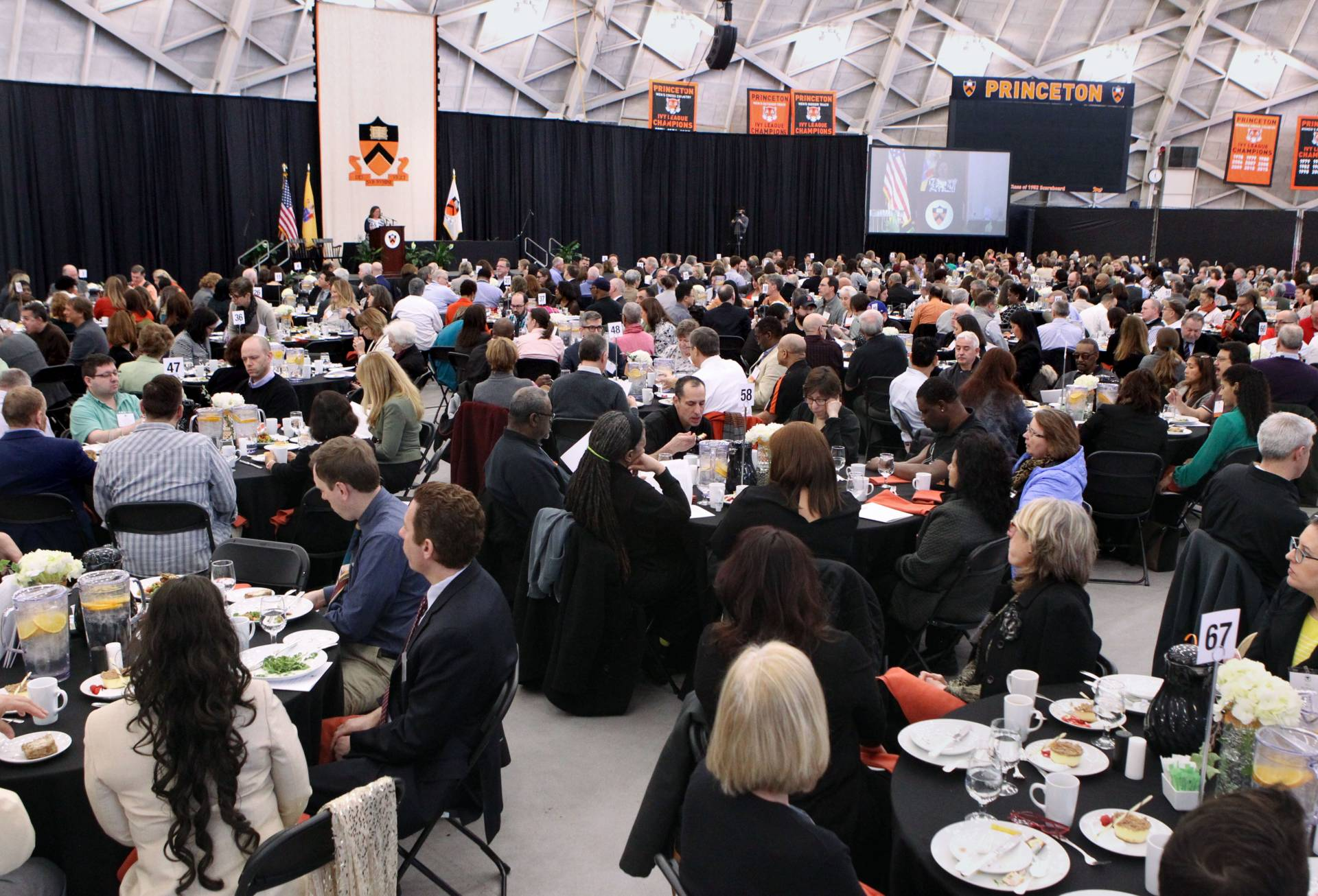 Staff recognition luncheon in Jadwin Gym