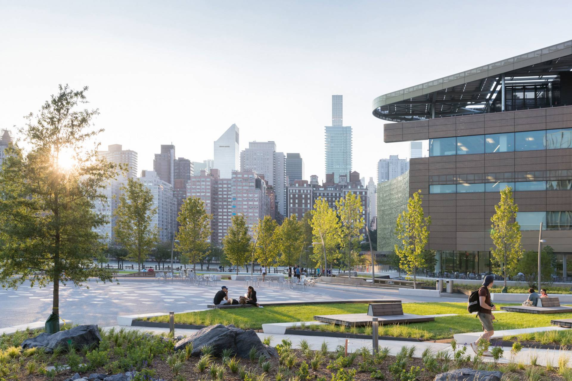 View from campus plaza at Cornell Tech Campus in New York City