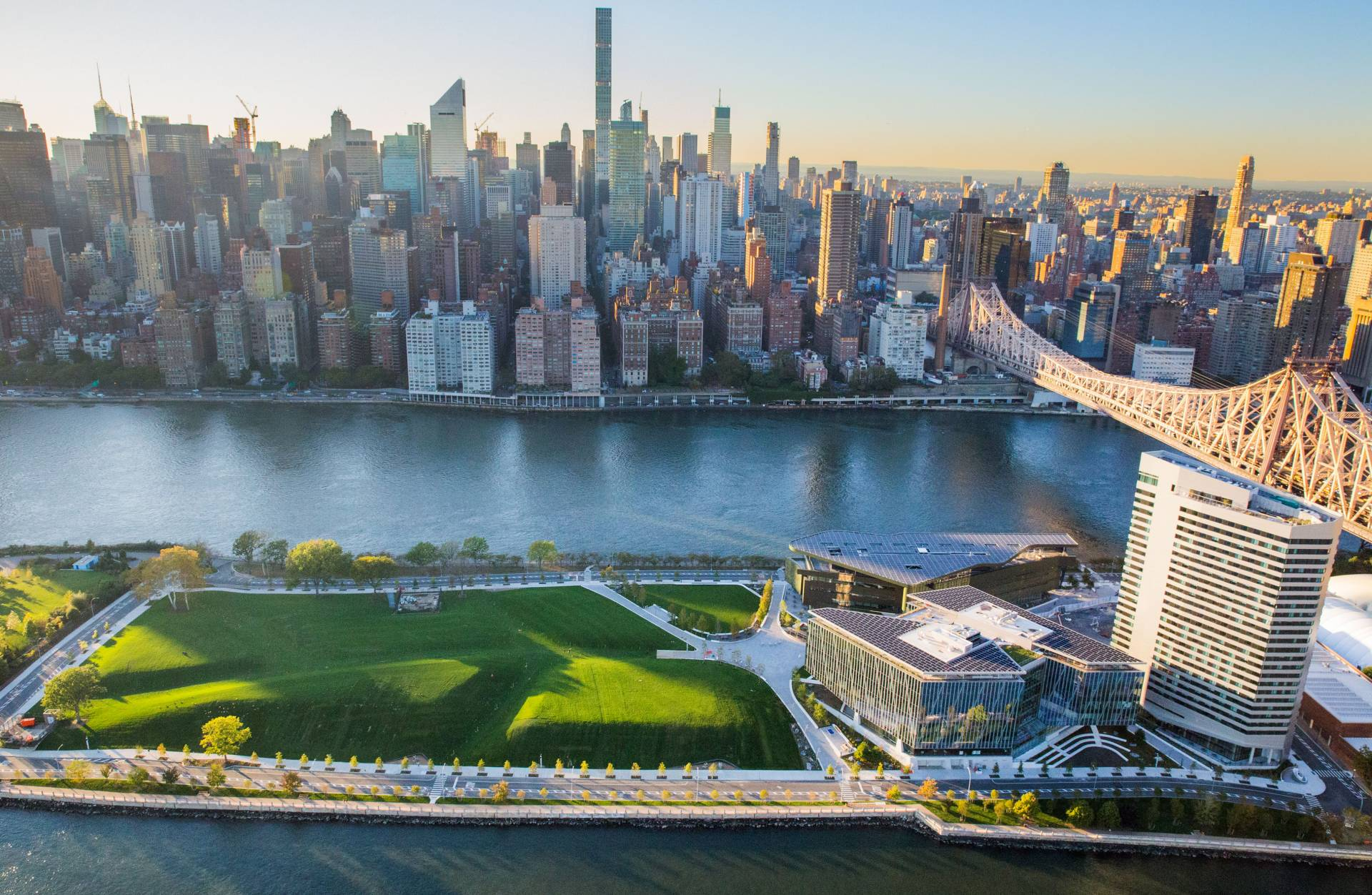Aerial view of Cornell Tech Campus in New York City