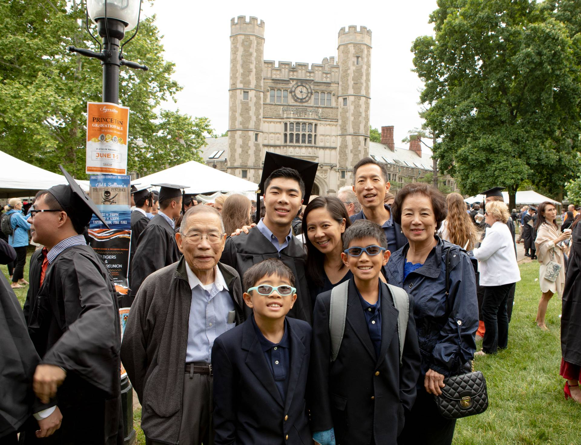 Nicholas Wu with family after Baccalaureate ceremony
