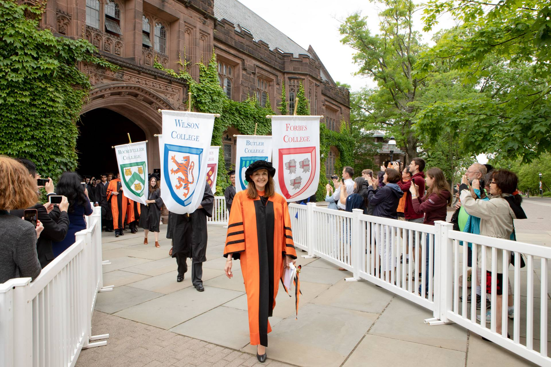 Baccalaureate ceremony procession through Johnson Archway