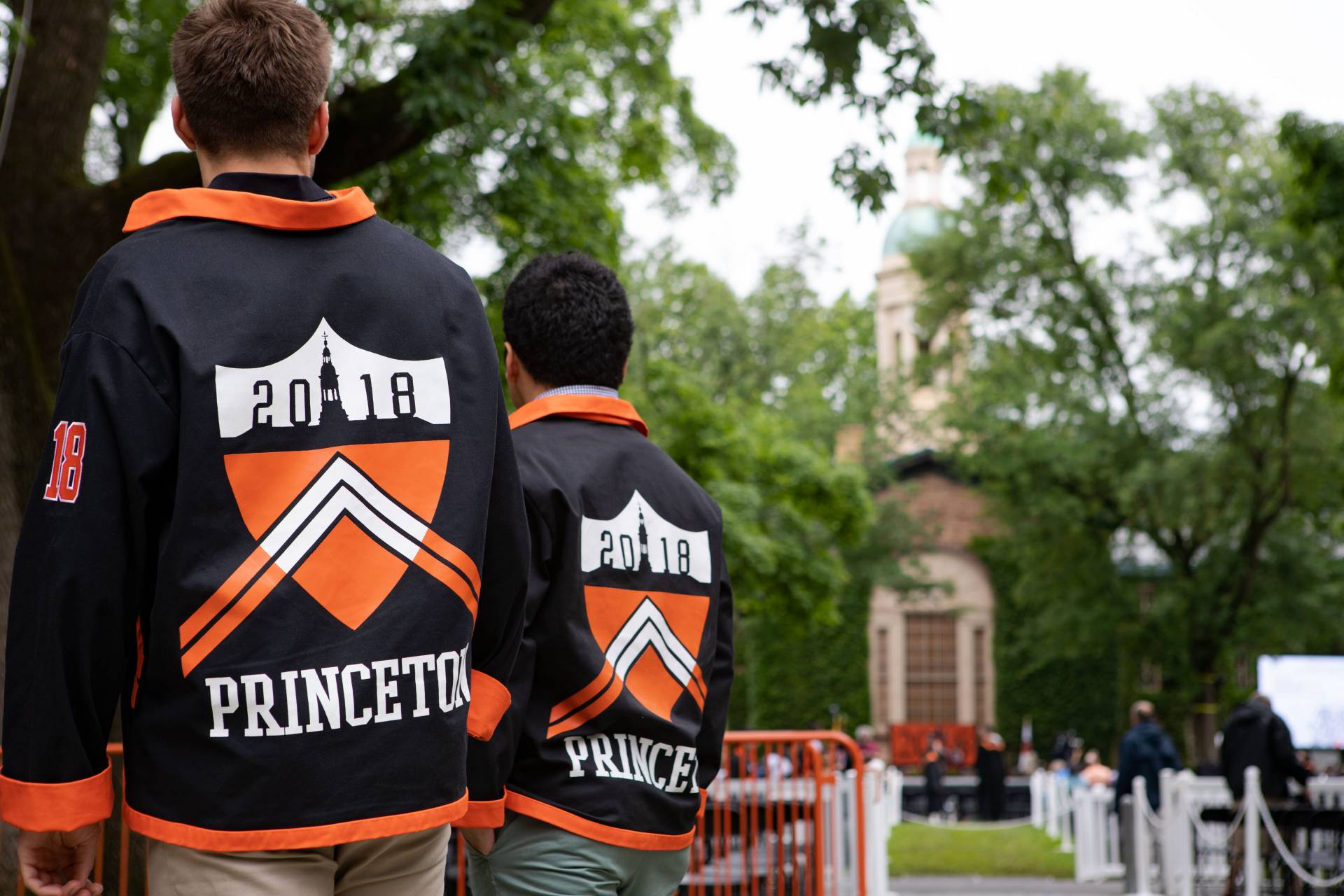 Back of Princeton Class of 2018 jackets