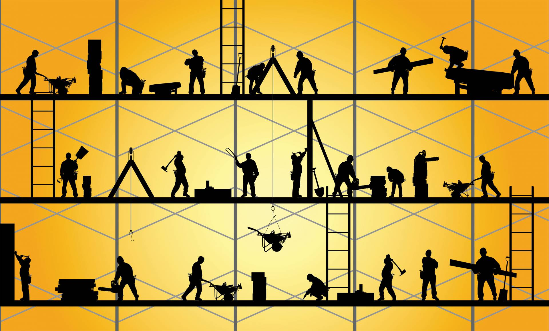 Illustrations of workers
